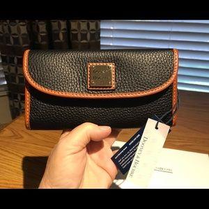 Dooney & Bourke Black Continental Pebble Wallet